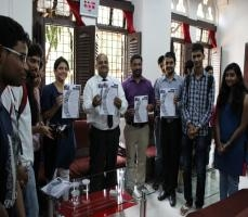Inaugeration of Paprefe (Newsletter) by Principal Pardeshi Sir