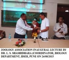 Zoology association Inaugural Lecture by L.S.Shashidhara.
